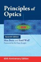 Principles of Optics: 60th Anniversary Edition [7th Edition. 60th Anniversary Edition]  9781108477437