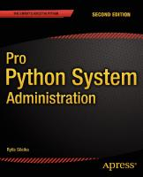 Pro Python system administration [Second edition]