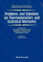 Problems and Solutions on Thermodynamics and Statistical Mechanics  9810200560, 9789810200565