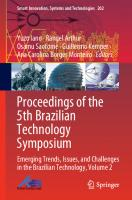 Proceedings of the 5th Brazilian Technology Symposium: Emerging Trends, Issues, and Challenges in the Brazilian Technology, Volume 2  3030575659, 9783030575656