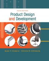 Product Design and Development [5ed.]  0073404772, 9780073404776