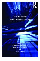 Psalms in the Early Modern World  1409422828, 9781409422822