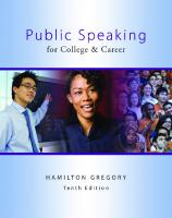 Public Speaking for College & Career [10thed.]  0078036828, 9780078036828