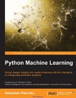 Python Machine Learning  9781783555130, 1783555130