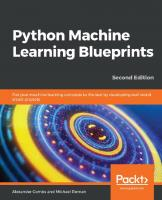 Python Machine Learning Blueprints [2nd edition.]