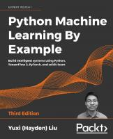 Python Machine Learning By Example [3 ed.]