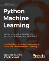 Python Machine Learning: Machine Learning and Deep Learning with Python, scikit-learn, and TensorFlow 2 [3ed.]  1789955750,  978-1789955750