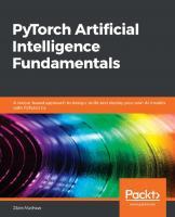 PyTorch Artificial Intelligence Fundamentals  9781838557041