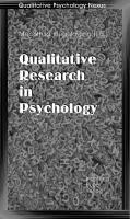 Qualitative Psychology Nexus Vol. I: Qualitative Research in Psychology  3980697568