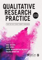 Qualitative Research Practice: A Guide for Social Science Students and Researchers [2ed.]  1446209121, 9781446209127