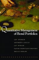 Quantitative Management of Bond Portfolios  069120277X, 9780691202778