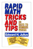 Rapid Math Tricks and Tips  0471575631