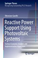 Reactive Power Support Using Photovoltaic Systems: Techno-Economic Analysis and Implementation Algorithms [1st ed.]  9783030612504, 9783030612511