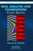 Real Analysis and Foundations, Fourth Edition [4ed.]
