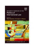 Research Handbook On The Politics Of International Law  1783473975,  9781783473977