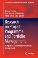 Research on Project, Programme and Portfolio Management: Integrating Sustainability into Project Management  3030601382, 9783030601386