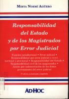 Responsabilidad Del Estado Y De Los Magistrados Por Error Judicial