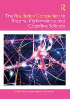 Routledge companion to theatre, performance, and cognitive science.  9781138048898, 1138048895