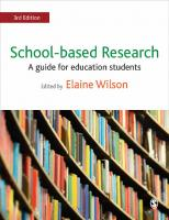 School-based Research: A Guide for Education Students [2ed.]  144624749X, 9781446247495