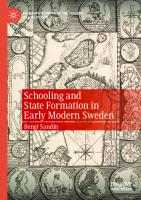 Schooling and State Formation in Early Modern Sweden [1st ed.]  9783030566654, 9783030566661