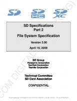SD Specifications - Part 2 - File System Specification - Version 3.00