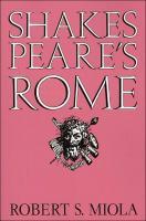 Shakespeare's Rome [1st Pbk. Ed]  0521607019, 9780521607018