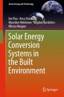 Solar Energy Conversion Systems In The Built Environment  3030348288,  9783030348281,  9783030348298
