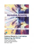 Solutions Manual for Intermediate Accounting, [2nded.]  9780134730370,  0134730372
