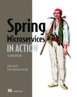 Spring Microservices in Action [2ed.]  1617296953, 9781617296956