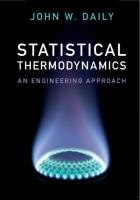 Statistical Thermodynamics: An Engineering Approach