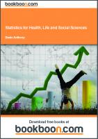 Statistics for health, life and social sciences  9788776817404, 8776817407