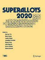 Superalloys 2020: Proceedings of the 14th International Symposium on Superalloys [1st ed.]  9783030518332, 9783030518349