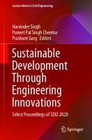 Sustainable Development Through Engineering Innovations: Select Proceedings of SDEI 2020 [1ed.]  9811595534, 9789811595530