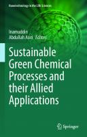 Sustainable Green Chemical Processes and their Allied Applications [1st ed.]  9783030422837, 9783030422844