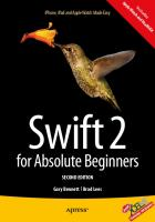 Swift 2 for absolute beginners [Second edition]