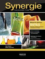 Synergie : 2e cycle du secondaire, 2e année. Manuel de référence Outils  9782765207955