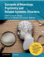 Synopsis of Neurology, Psychiatry and Related Systemic Disorders [1sted.]  9781107706866