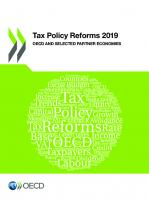 Tax Policy Reforms 2019 OECD and Selected Partner Economies
