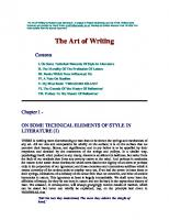 The Art of Writing  1600964087, 9781600964084