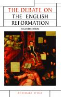 The Debate on the English Reformation: Second Edition  0719086612, 9780719086618