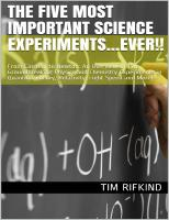 The Five Most Important Science Experiments...Ever!!