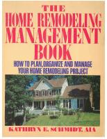 The home remodeling management book: how to plan, organize, and manage your home remodeling project  9780399516665, 0399516662