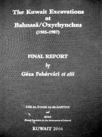 The Kuwait Excavations at Bahnasa/Oxyrhynchus - Final Report