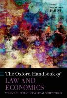 The Oxford Handbook of Law and Economics: Volume 3: Public Law and Legal Institutions [Illustrated]  9780199684250