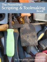 the powershell scripting toolmaking book