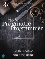 The Pragmatic Programmer: Your Journey to Mastery, 20th Anniversary Edition [Hardcovered.]  0135957052, 9780135957059