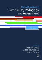 The SAGE handbook of Curriculum, Pedagogy and Assessment  2015941576, 9781446297025