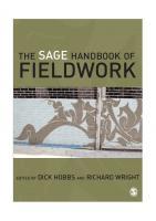 The SAGE Handbook of Fieldwork  0761974458