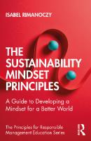 The Sustainability Mindset Principles: A Guide to Developing a Mindset for a Better World  0367551799, 9780367551797