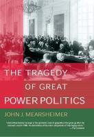 The Tragedy of Great Power Politics  0393020258, 2001030915